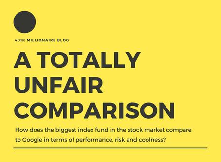 A totally unfair comparison: Google vs the S&P 500