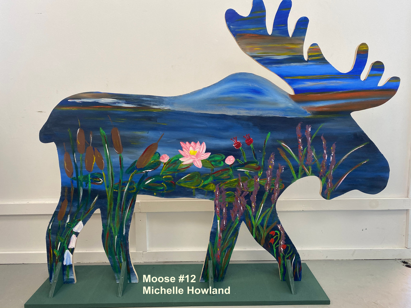 Moose 12 One Side Only Michelle Howland.