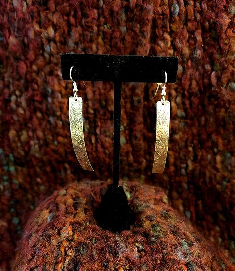 Stamped Metal Earrings