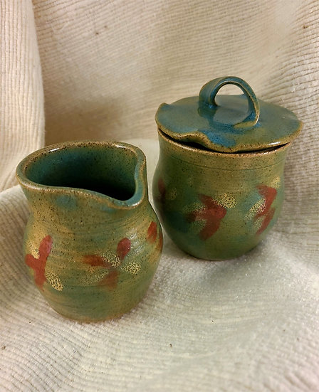 Clay Sugar and Creamer Set