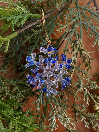 Glass Snowflake Ornament