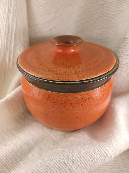Orange Clay Pot
