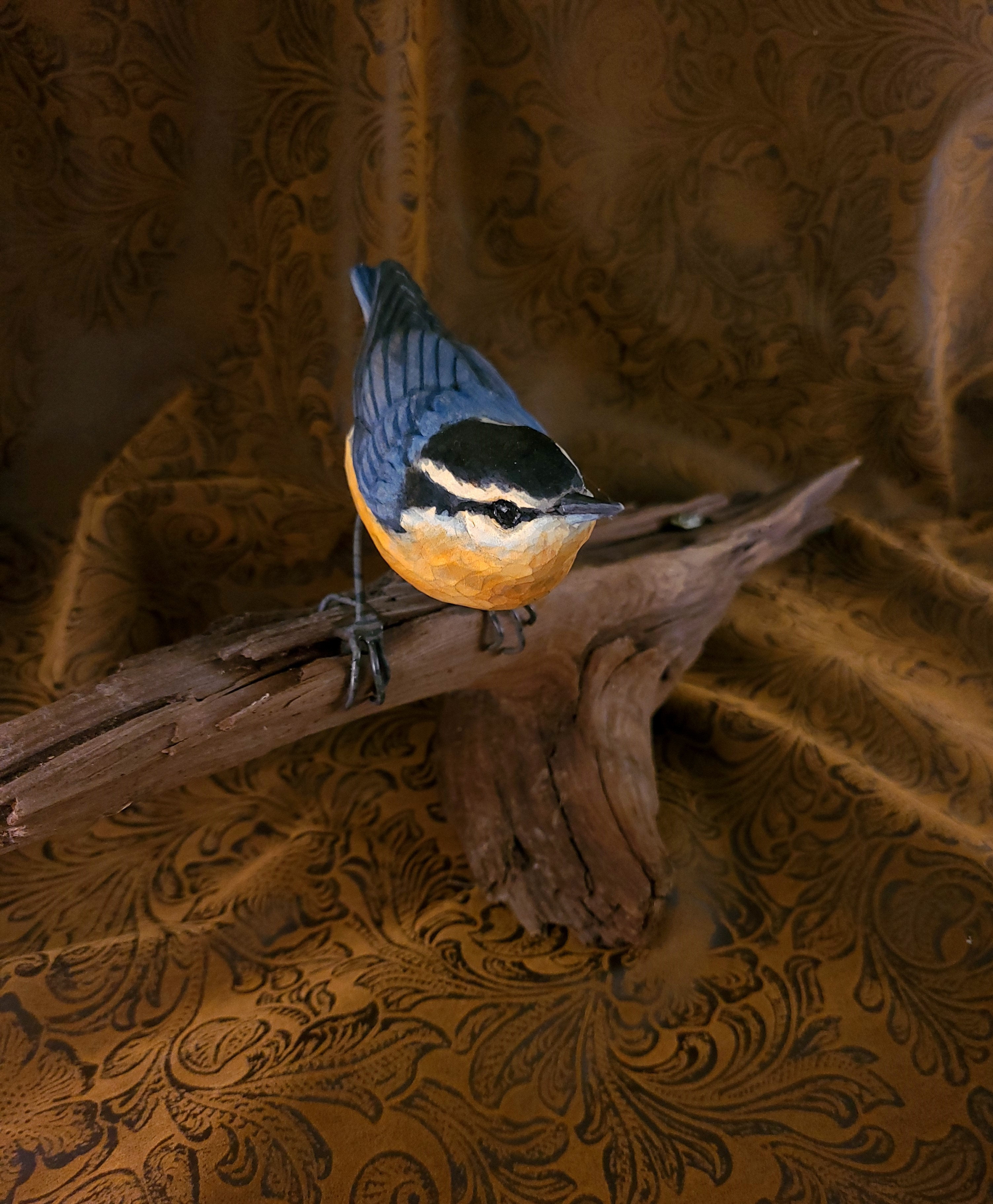 Hand-Carved Nuthatch