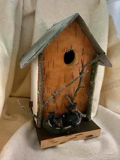 Bear Canoe Birdhouse