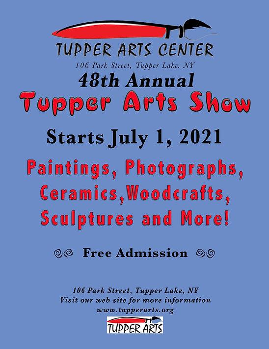 48th Annual Tupper Lake Arts Show Flier.