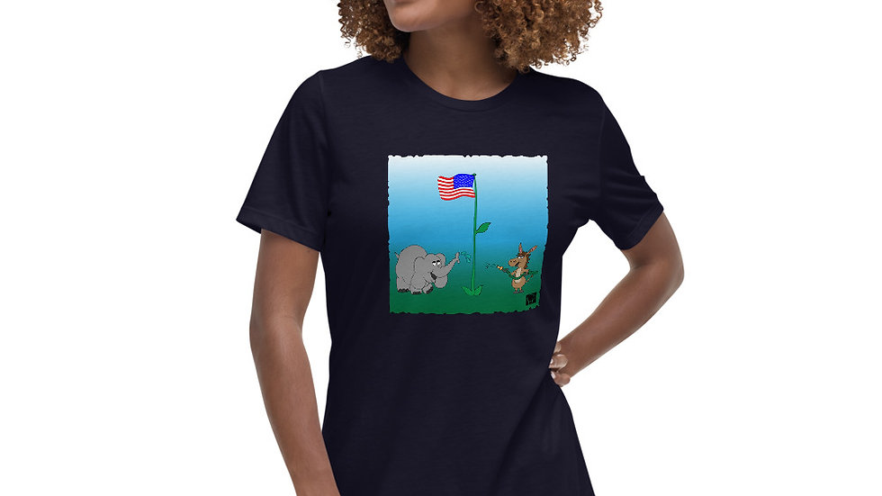 Women's United Strength of America Cooperation T-Shirt