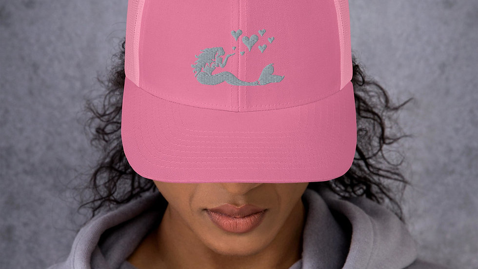 Mermaid Kisses Retro Trucker Hat