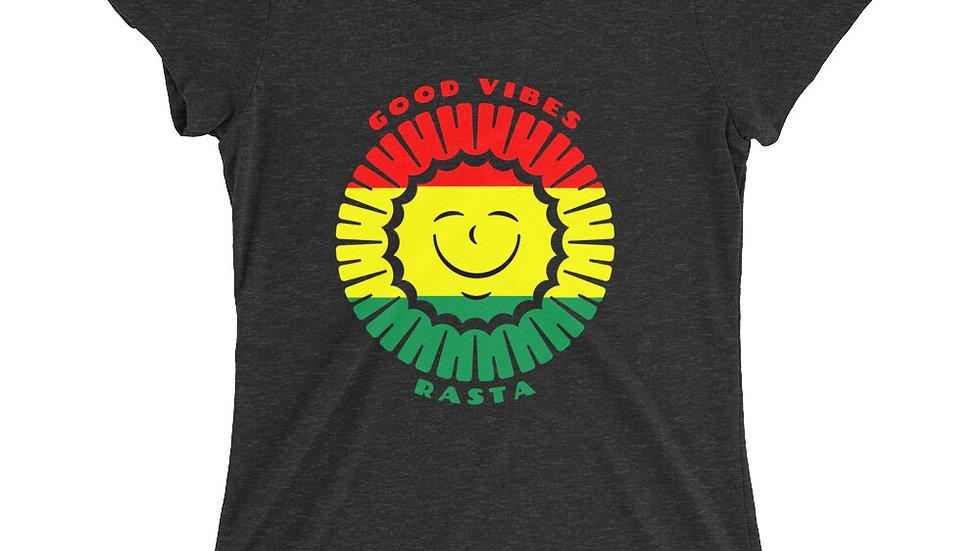 Women's Good Vibes Rasta T-Shirt