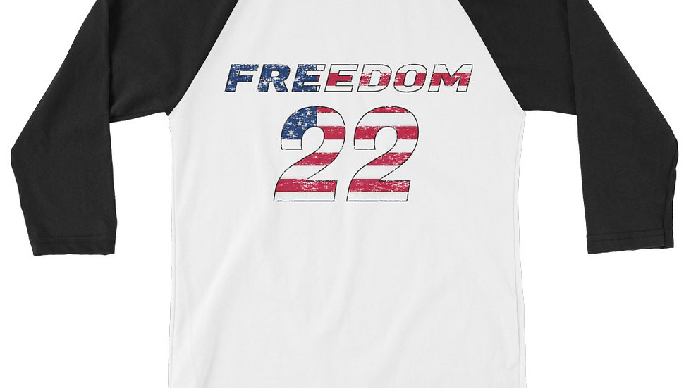 Men's Freedom 22 for Veterans Raglan Shirt