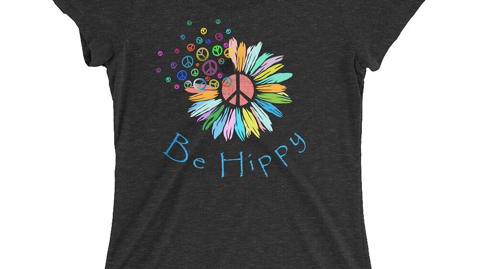 Be Hippy in Blue Text