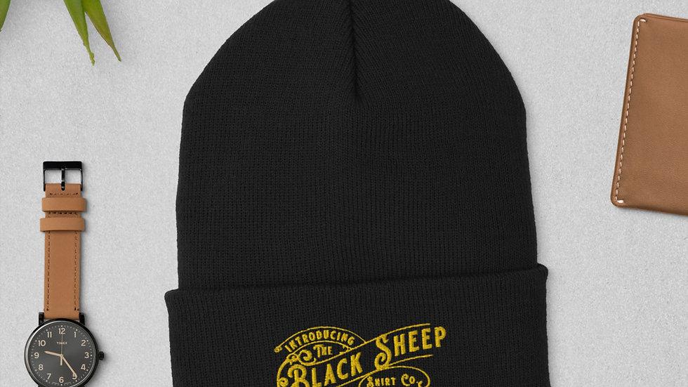 Black Sheep Shirt Branded Cuffed Beanie