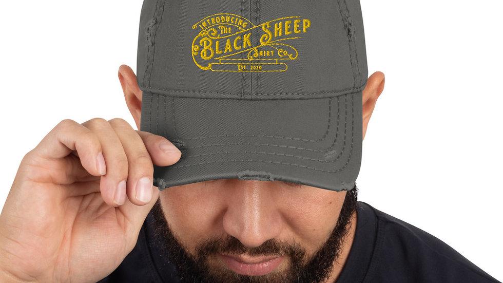 Black Sheep Shirt Branded Distressed Ball Cap