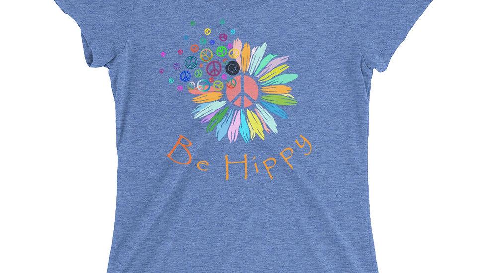 Be Hippy in Orange Text