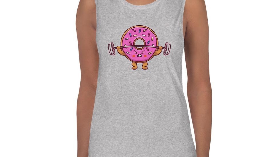 Donut Look Strong Ladies Tank