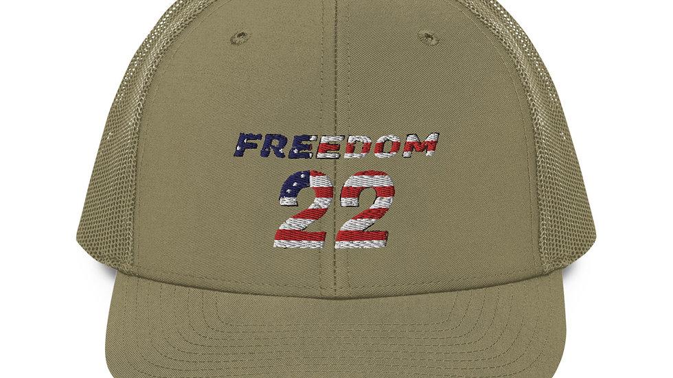 Freedom 22 Veteran's Original Trucker Cap