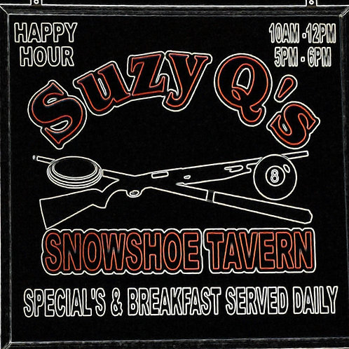 Suzy Q's  Snowshoe Tavern-Cushing WI