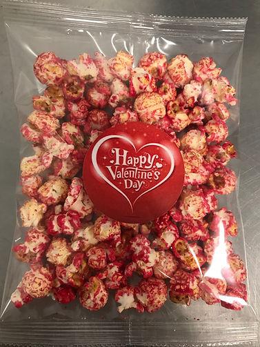 Roze popcorn valentijn
