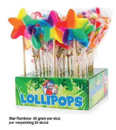 Star Pop Rainbow lolly's