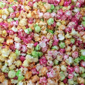 groen roze oranje geel popcorn