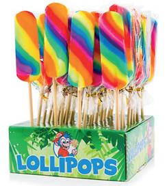 Lange regenboog lolly's