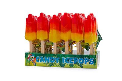 Candy ice lollies 48 in display