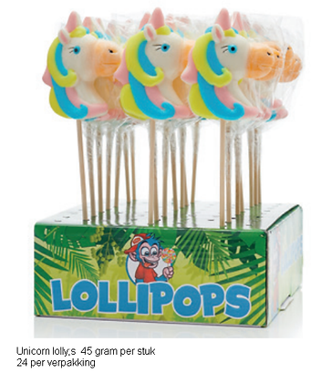 Unicorn lolly's 24 in display