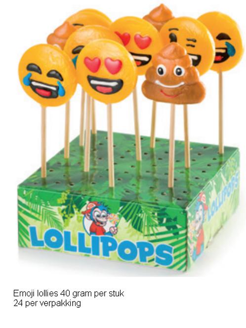 Emoji lolly's display van 24 stuks