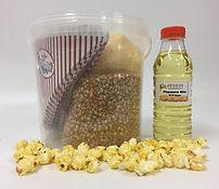 combi emmer zoete popcorn olie