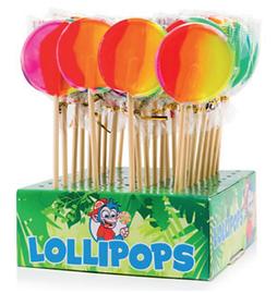 Ronde regenboog lolly's