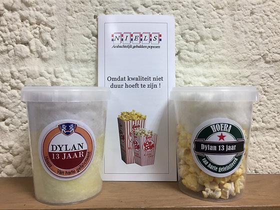 Biertje suikerspin/popcorn