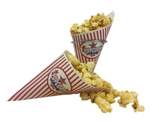 Papieren popcornzakjes K-17