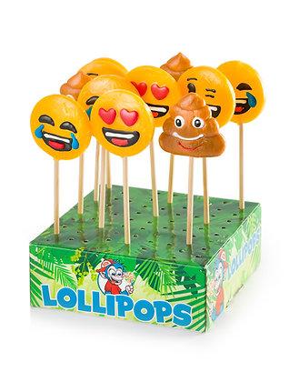 Emoji lollys assorti 4 stuks