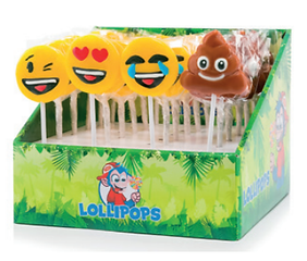 mini emoji lolly