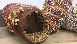 Chimneycake met nutella en nootjes