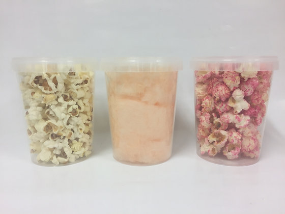 Suikerspin of popcorn 0.5 liter 100 stuks