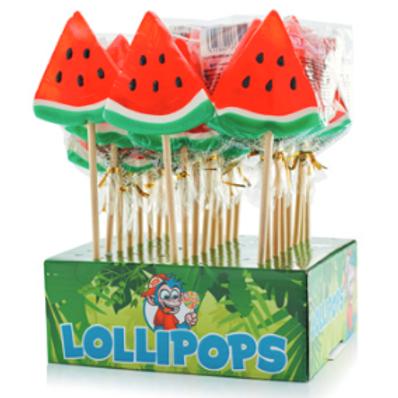 Watermeloen lolly's display 24 stuks