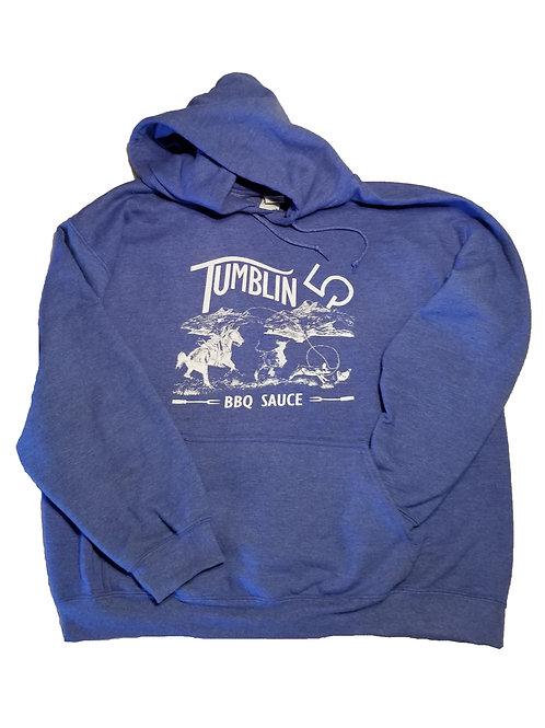 Tumblin 5 Vintage Blue Hoodie