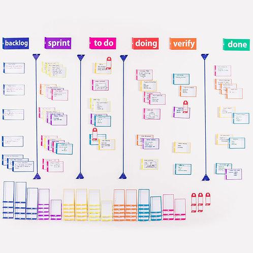 Набор магнитных карточек для Scrum/Kanban доски. Предзаказ