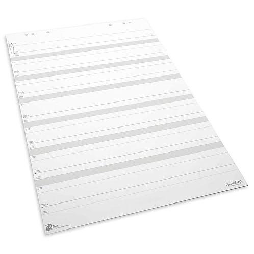 Флипчарт-пропись (линованная белая бумага в блокноте) для флипчарта
