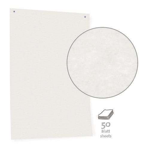 Бумага белая для модерации White Pinboard Paper, разлинованная, 50 листов