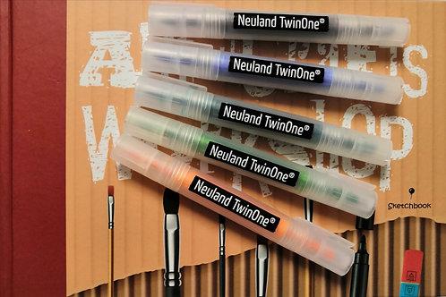 5 маркеров Neuland TwinOne и скетчбук