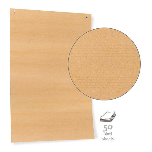 Бумага для модерации, коричневая 50 и 100 листов
