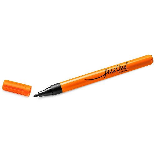 """Перманентный тонкий маркер """"Outliner Neuland FineOne®"""", чёрный, """"пуля"""" 1 мм"""