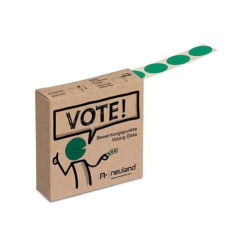 Точки для голосования зелёные