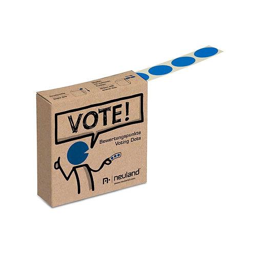 Точки для голосования синие