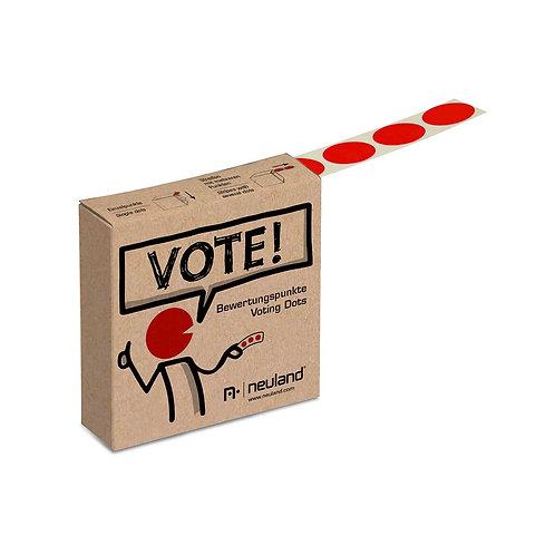 Точки для голосования красные