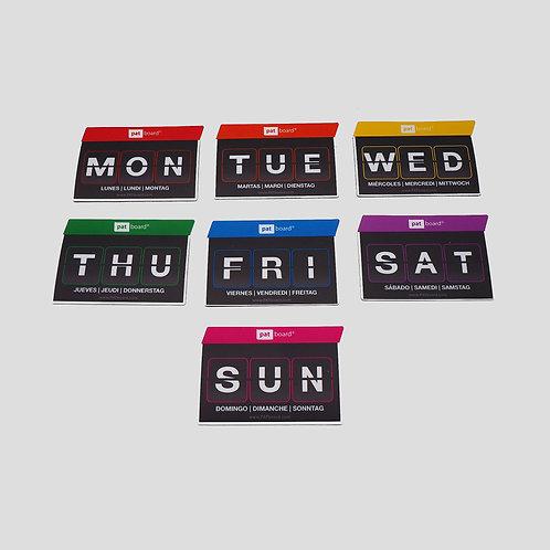 """Магнитные карточки """"Дни недели"""""""