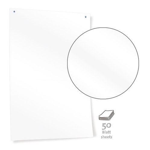 Бумага белая для модерации без разлиновки, 50 листов