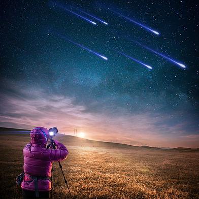 Étoile filantes, cosmique, extra-terrestre, ascenion, éveil