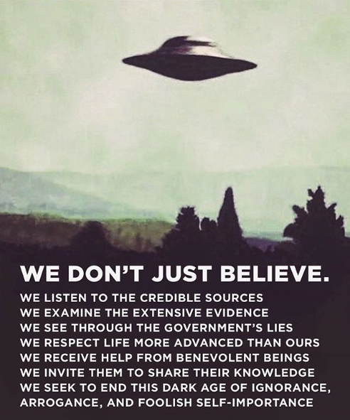 We don't just believe.